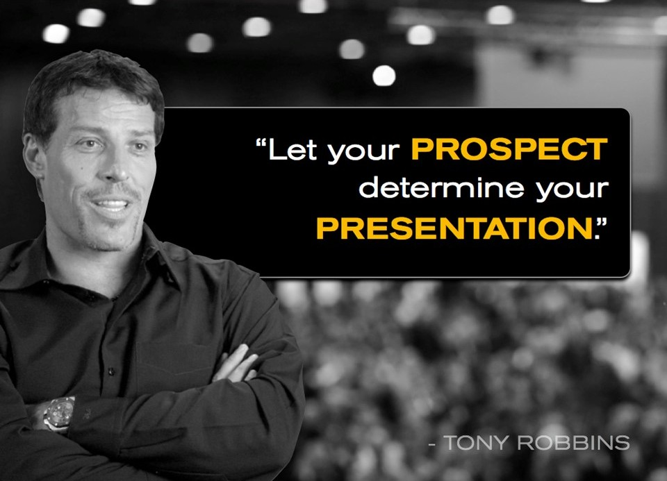 Let your prospect determine your presentation
